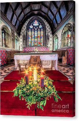 Christmas Candles Canvas Print by Adrian Evans