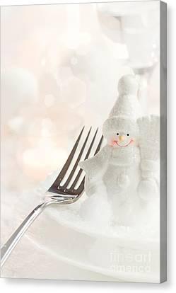 Christmas Dinner Canvas Print