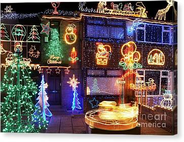 Christmas Lights Canvas Print by Mark Sykes