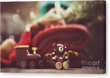 Christmas Rustic Decoration Canvas Print by Mythja  Photography