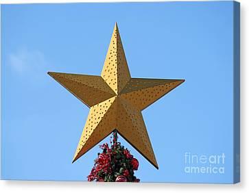 Christmas Star Canvas Print by George Atsametakis