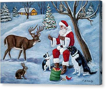 Christmas Treats Canvas Print by Fran Brooks
