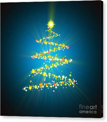 Christmas Tree Canvas Print by Atiketta Sangasaeng