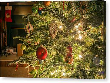 Canvas Print featuring the photograph Christmas Tree Ornaments by Alex Grichenko
