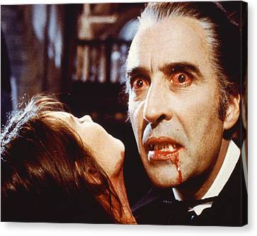 Christopher Lee In Dracula A.d. 1972  Canvas Print