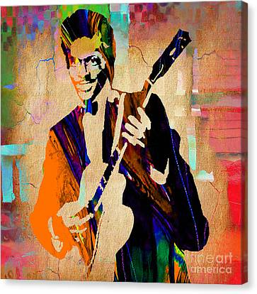 Chuck Berry Collection Canvas Print by Marvin Blaine