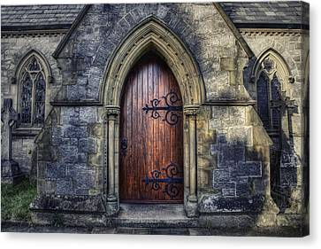 Medieval Entrance Canvas Print - Welcome Please Come In by Ian Mitchell