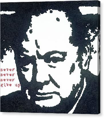 Churchill Canvas Print by Barry Novis
