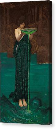 Circe Invidiosa Canvas Print by John William Waterhouse