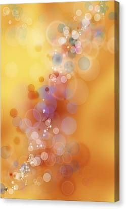 Circles Background Canvas Print by Les Cunliffe
