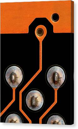 Circuit Board Tin Contacts Canvas Print
