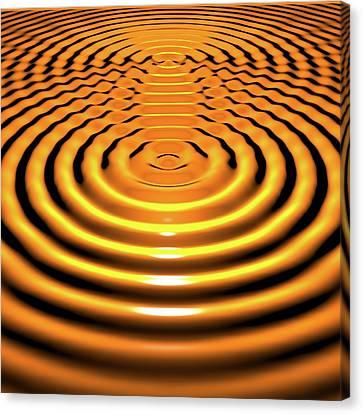 Circular Wave Interference Canvas Print
