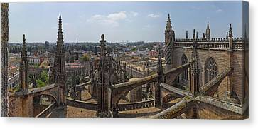 City View From A Cathedral Roof Canvas Print by Panoramic Images