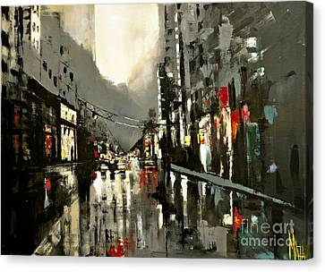 Cityscape Oil Painting Canvas Print