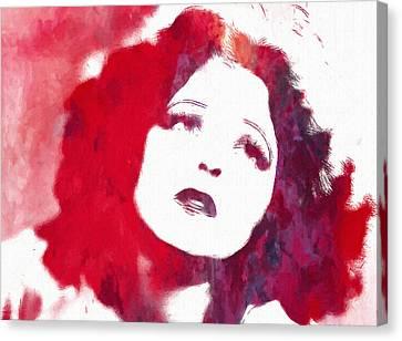 Clara Bow Canvas Print by Steve K
