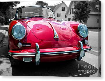 Classic Red P Sports Car Canvas Print
