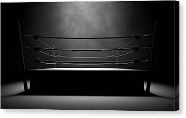 Classic Vintage Boxing Ring Canvas Print