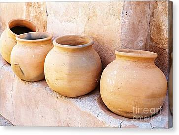 Clay Pots Canvas Print by Kerri Mortenson