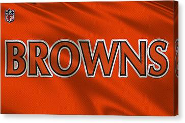 Cleveland Browns Uniform Canvas Print by Joe Hamilton