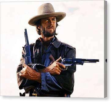 Clint Eastwood In The Outlaw Josey Wales  Canvas Print by Silver Screen