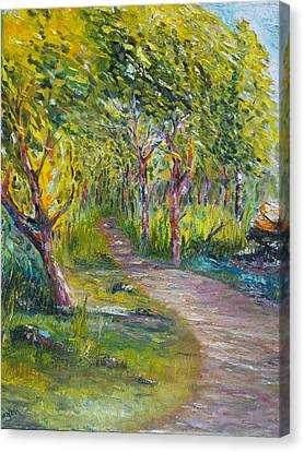 Palette Knife Canvas Print - Coastal Path by Conor Murphy