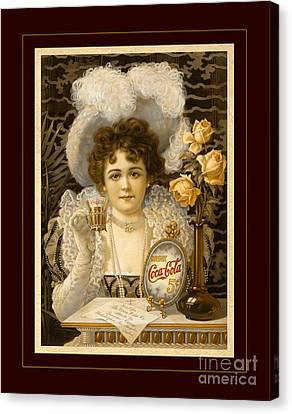 Coca-cola Vintage Retro Poster Canvas Print by John Stephens