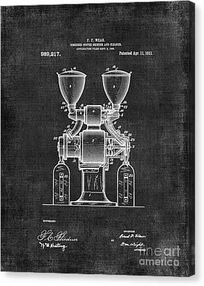 Coffee Grinder Patent 060 Canvas Print by Edit Voros