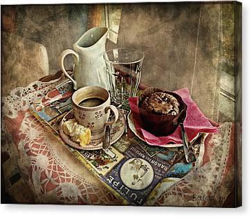 Coffee Time Canvas Print by Barbara Orenya