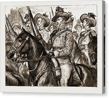 Colonial Troops Who Took Place In The Jubilee Procession Canvas Print
