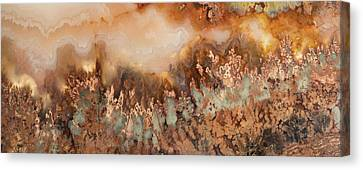 Brown Color Canvas Print - Colorful Plume Agate by Leland D Howard