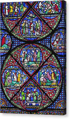 Colourful Stained Glass Window In Canvas Print by Terence Waeland