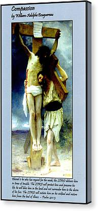 Compassion Canvas Print by William Bouguereau
