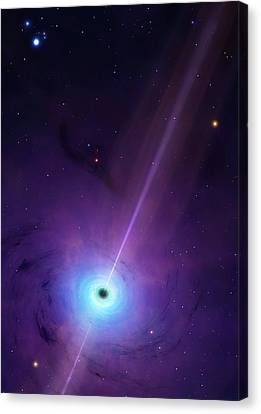 Computer Artwork Of Black Hole Canvas Print