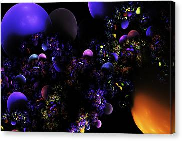 Computer Generated Spheres Abstract Fractal Flame Canvas Print by Keith Webber Jr