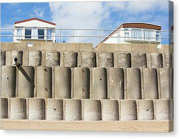Concrete Sea Defences Canvas Print by Ashley Cooper