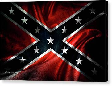 Historical Canvas Print - Confederate Flag by Les Cunliffe