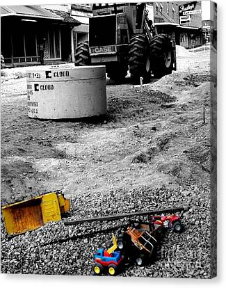 Construction Site Canvas Print by   Joe Beasley