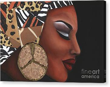 Canvas Print featuring the mixed media Contemplation by Alga Washington