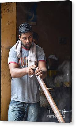 Canvas Print featuring the photograph Cooking Breakfast Early Morning Lahore Pakistan by Imran Ahmed