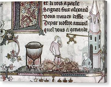 Cooks, 14th Century Canvas Print by Granger