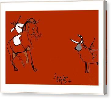 Corrida Equestre 2013 Canvas Print by Peter Szabo