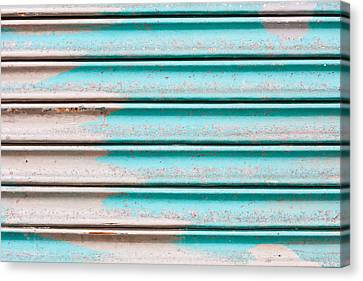 Corrugated Metal Canvas Print by Tom Gowanlock