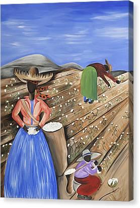 Cotton Pickin' Cotton Canvas Print by Patricia Sabree