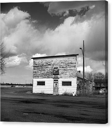 Country Small Town Tavern - Fine Art Print - North Dakota Canvas Print by Donald  Erickson