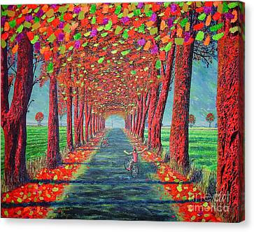Canvas Print featuring the painting Country.fall by Viktor Lazarev