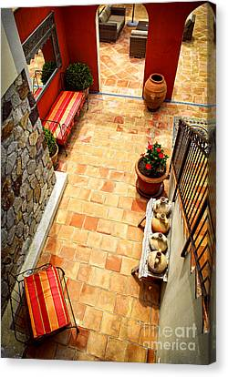 Floor Canvas Print - Courtyard Of A Villa by Elena Elisseeva
