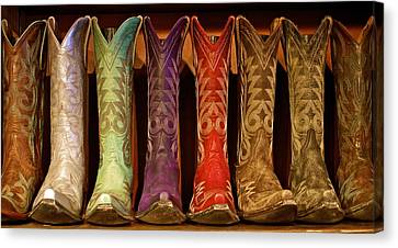 Cowboy Boots Canvas Print by John Babis