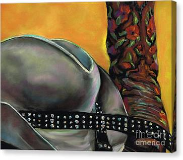 Cowgirl Necessities Canvas Print by Frances Marino