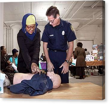 Cpr Community Training Canvas Print