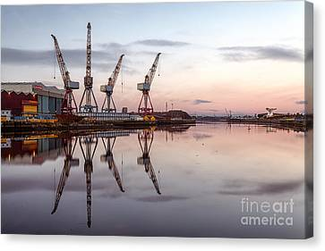 Cranes On The Clyde  Canvas Print